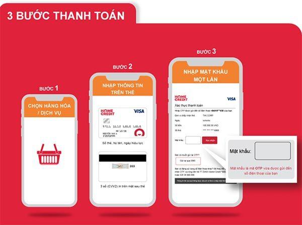 Mua hàng online thanh toán nhanh chóng bằng thẻ Home Credit