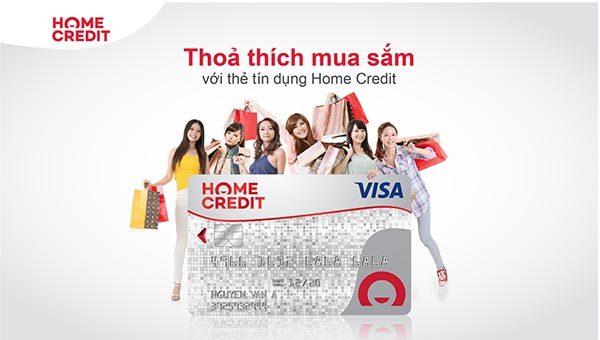 Mua sắm thỏa thích với thẻ tín dụng Home Credit không cần trả tiền mặt