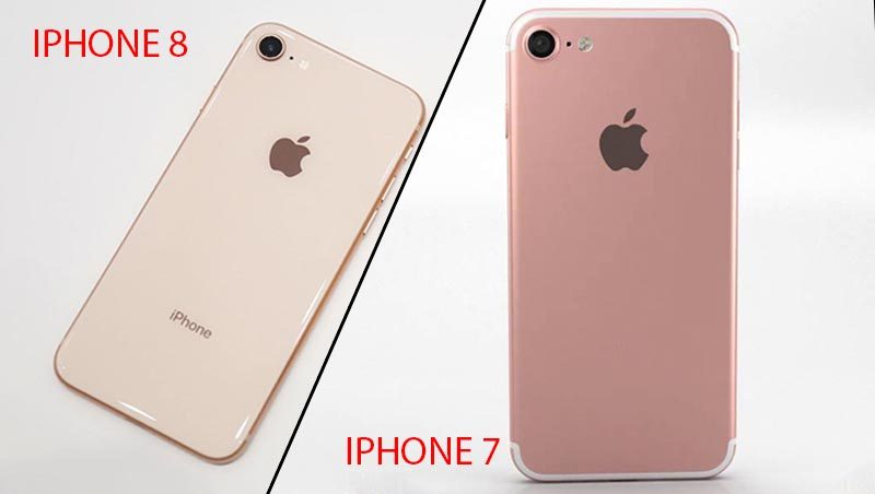 iPhone 8 sử dựng mặt lưng bằng kính sang trọng, bóng bẩy