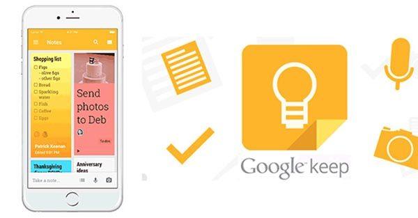 Google Keep cho phép người dùng thu thập nhiều định dạng dữ liệu
