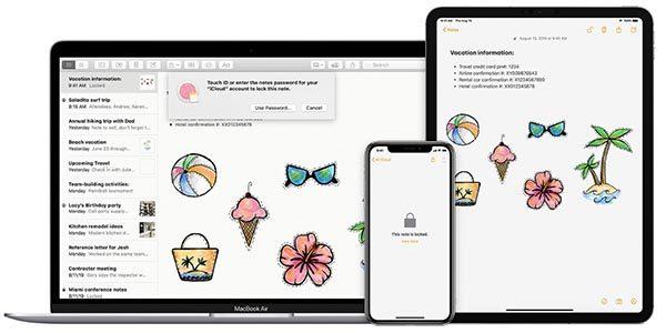 Apple Notes trang bị cho iPad Pro đi kèm chiếc bút thông minh