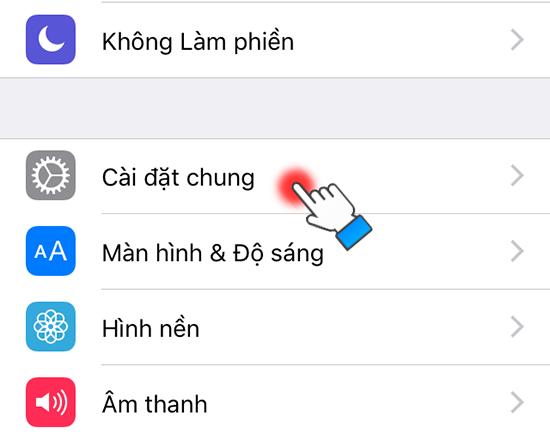 Cài đặt mật khẩu giới hạn trên iPhone (1)