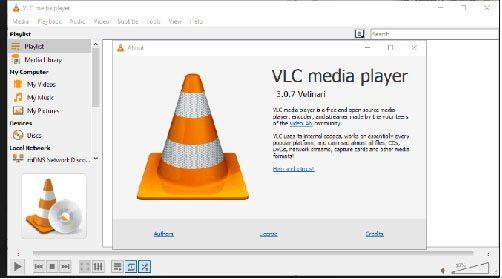Giao diện của phần mềm VLC