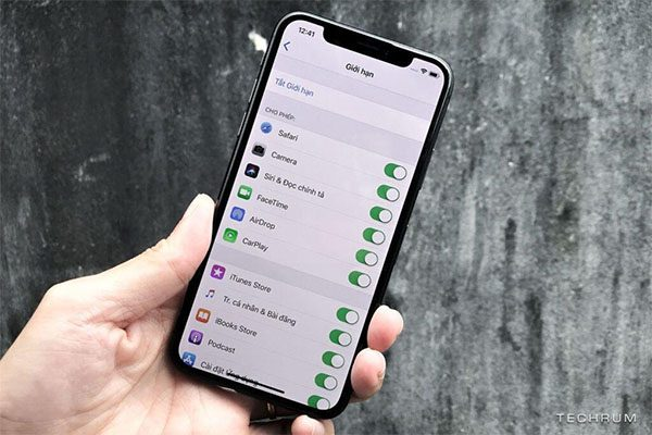 Mật khẩu giới hạn trên iPhone là gì