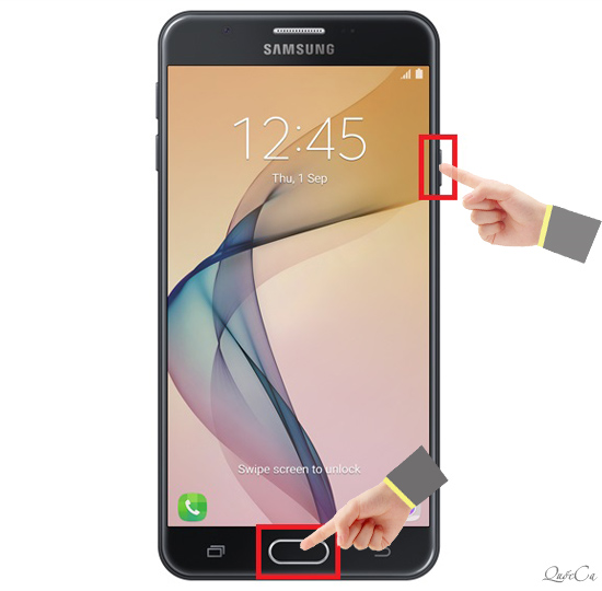 Cách chụp màn hình trên Samsung J7 Prime