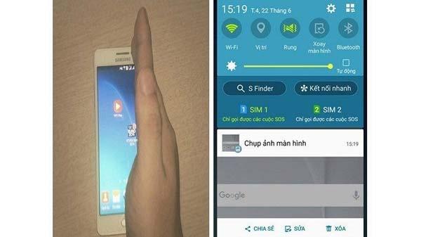 Vuốt tay từ phải qua trái (hoặc ngược lại) để chụp màn hình