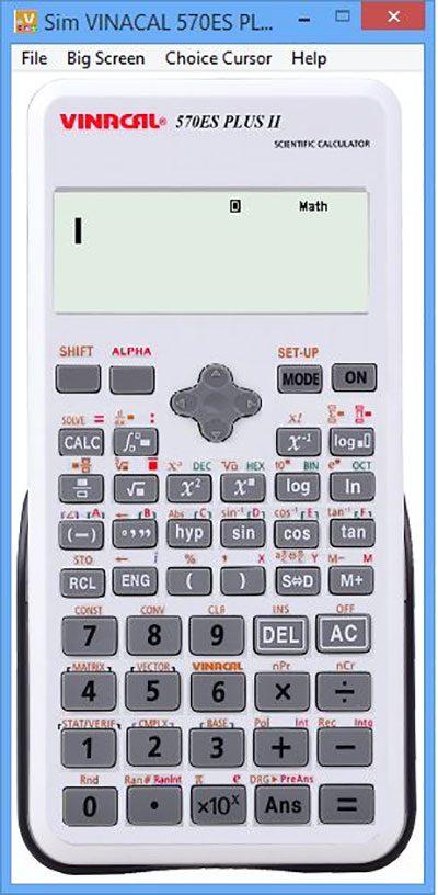 Cách giả lập máy tính Vinacal 570ES Plus II