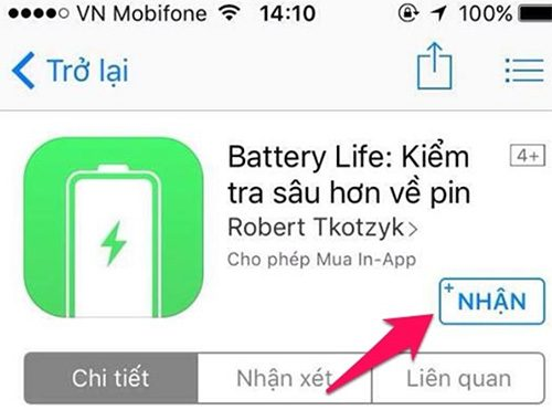Sử dụng Battery Life kiểm tra chai pin iPhone