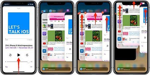 Tắt ứng dụng chạy ngầm trên iPhone X trở đi