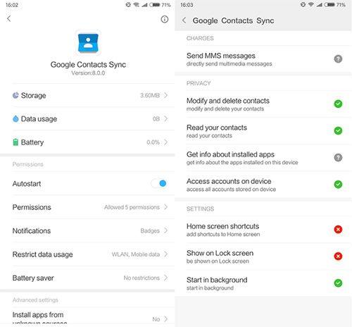 Đồng bộ danh bạ từ Gmail lên điện thoại Xiaomi (2)