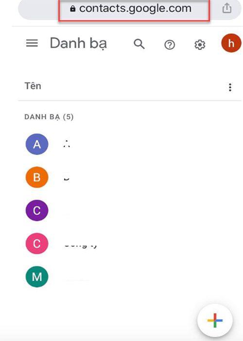 Xoa Danh Ba Tren Gmail