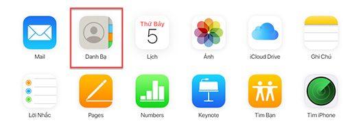 Cách xóa danh bạ iPhone trên iCloud (2)